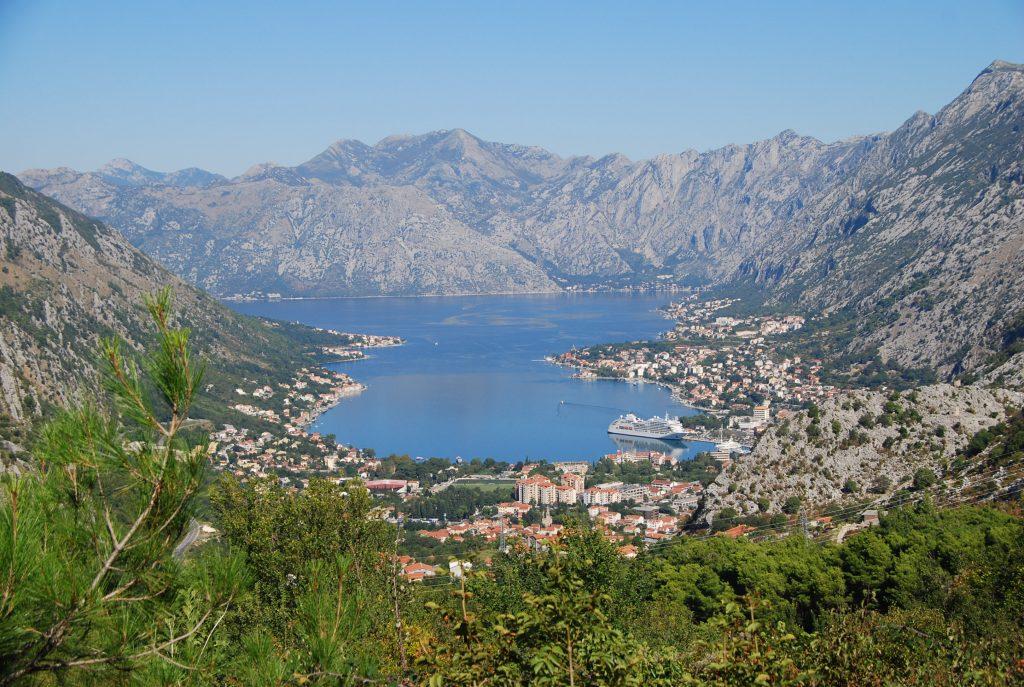 Uitzicht baai van Kotor