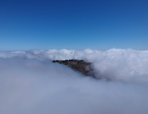 Flying a drone through the clouds on Madeira